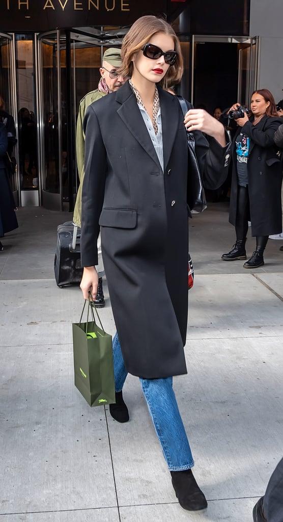 Kaia Gerber's Street Style at New York Fashion Week