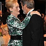 George Clooney and Meryl Streep stopped to chat at the January 2010 SAGs.