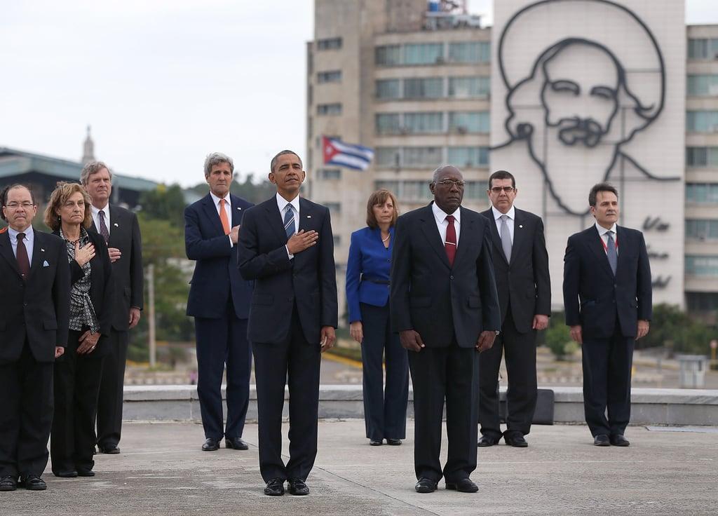 President Obama at the José Martí Memorial