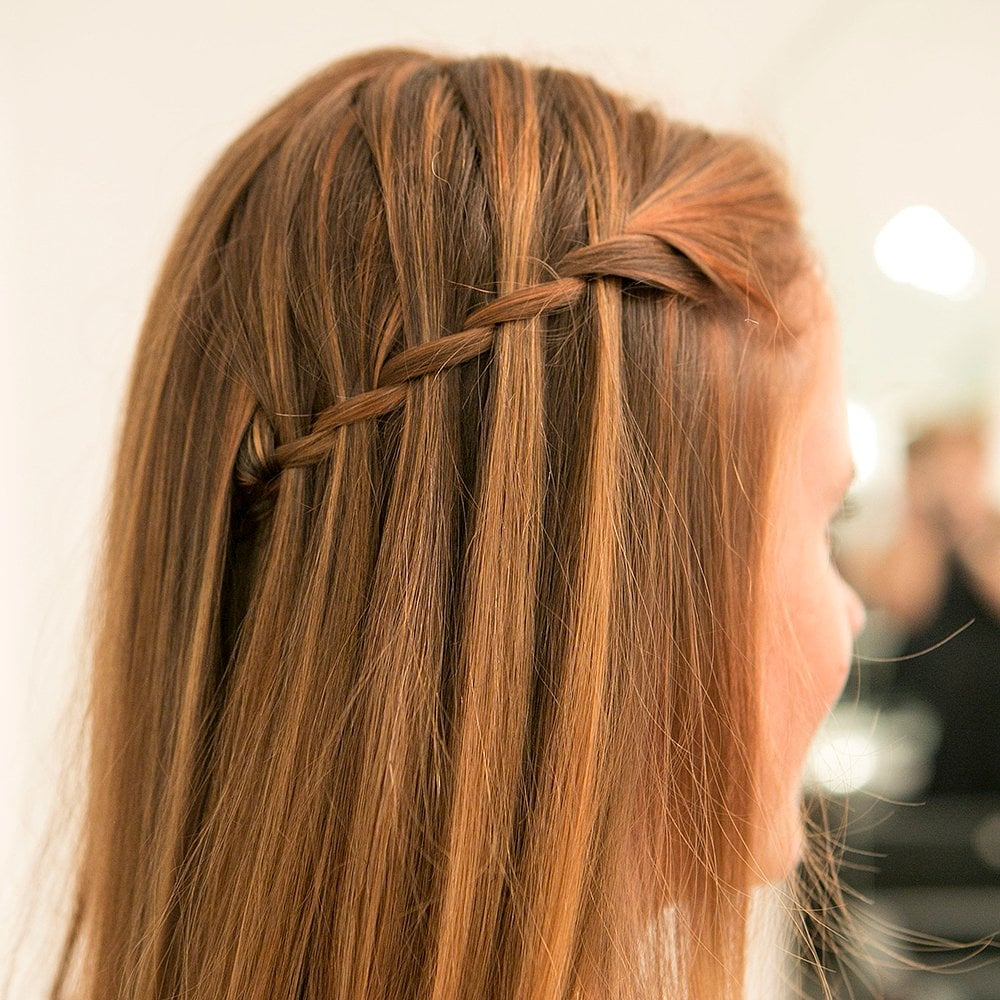Braiding can be complicated, but we simplified the waterfall braid. We're guessing our readers are going to try it out this New Year's Eve.  Source: Caroline Voagen Nelson