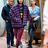 Anwar Hadid and Dua Lipa in NYC