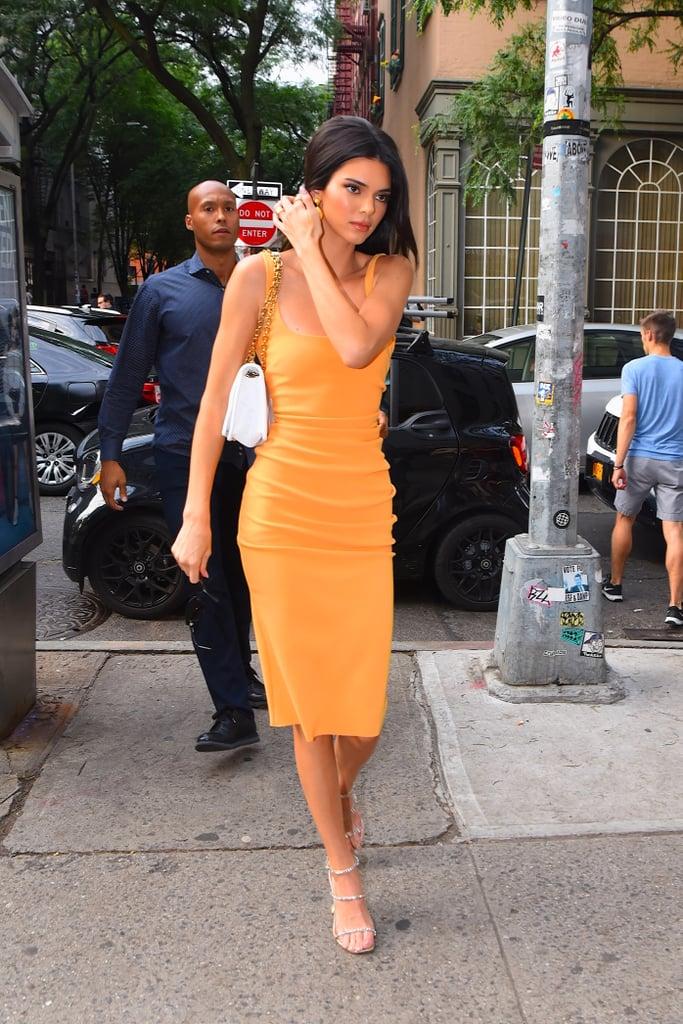 Kendall Jenner Orange Bec and Bridge Dress 2019