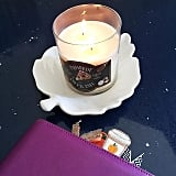 Candles smell delicious in scents like pumpkin pie and mulled cider