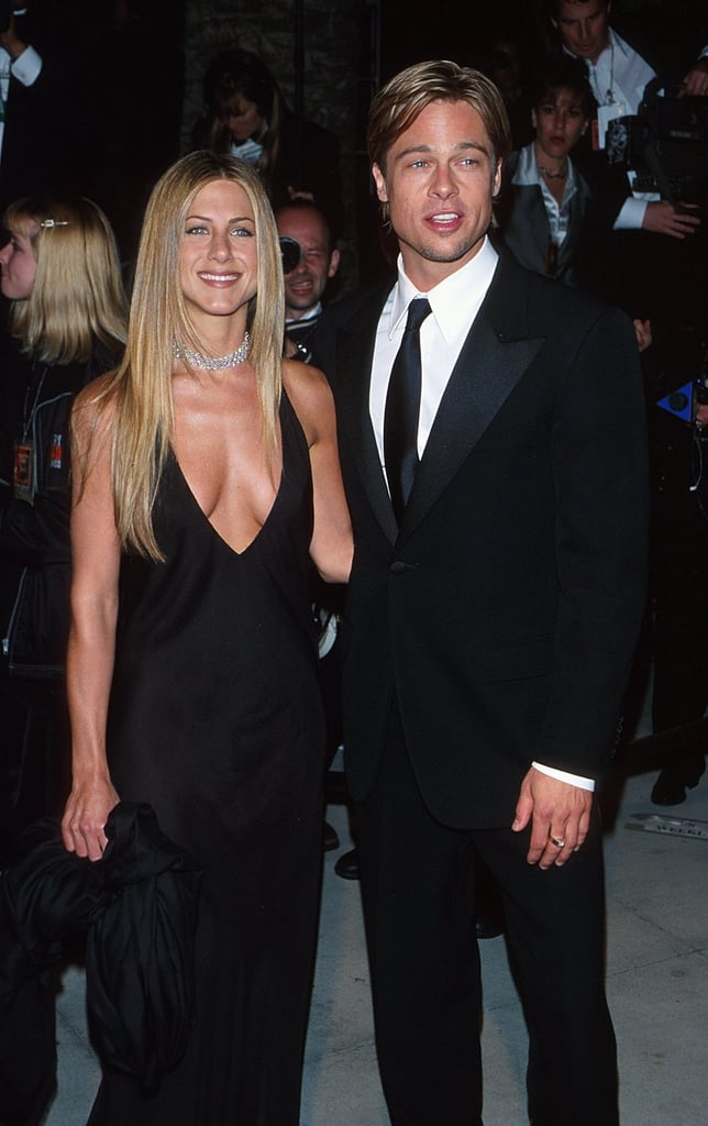 Jennifer Aniston and Brad Pitt celebrated the 2000 Academy Awards at the Vanity Fair Oscars party, though they didn't attend the show.
