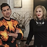 David Rose's Givenchy Flame-Print Sweatshirt on Open Mic Night