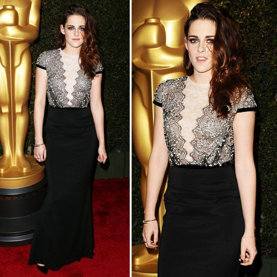 Kristen Stewart's Lacy Talbot Runhof Dress from All Angles!