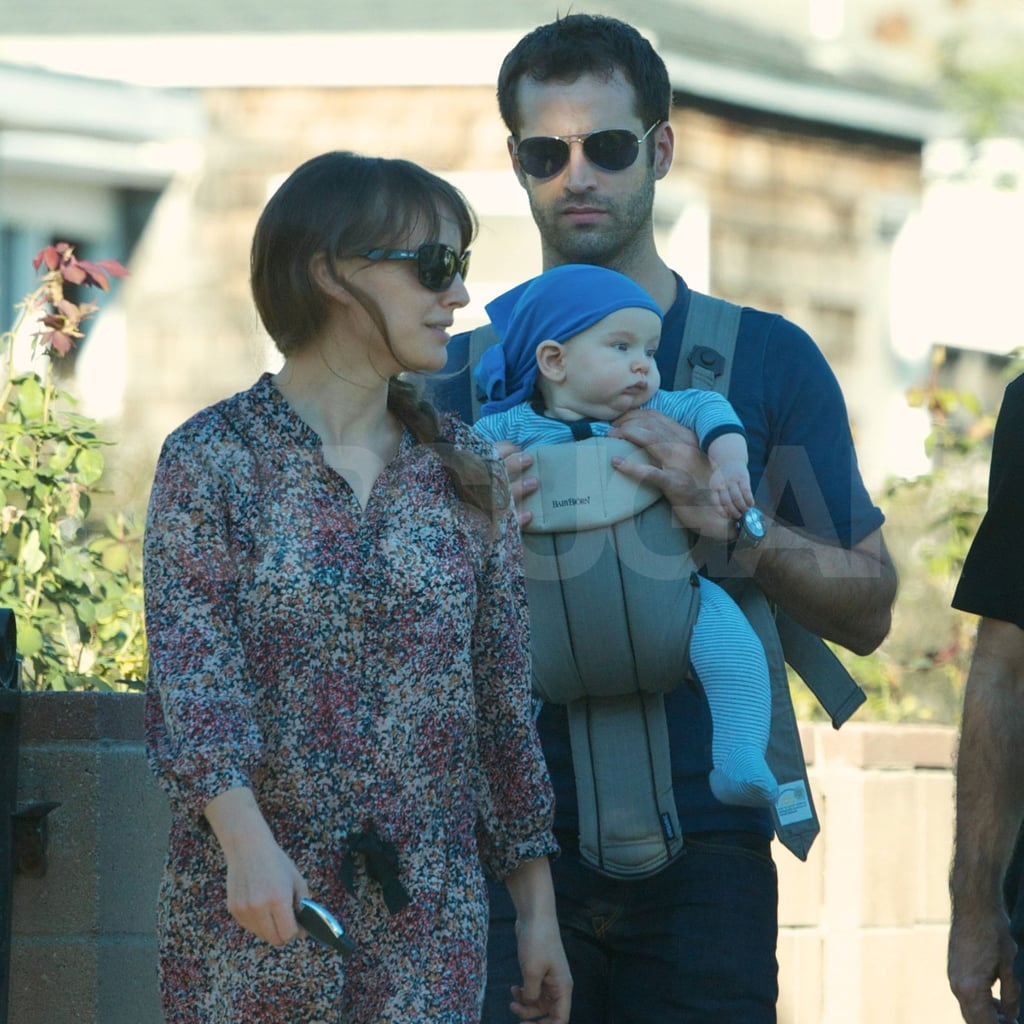 Natalie Portman and Benjamin Millepied shared a sunny day with baby Aleph Millepied.