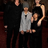 Angelina, Maddox, and Pax supported Brad at the London premiere of World War Z in June 2013.