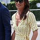 Pippa Middleton Yellow Floral Dress at Wimbledon 2019