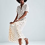 Zara Long Polka Dot Dress