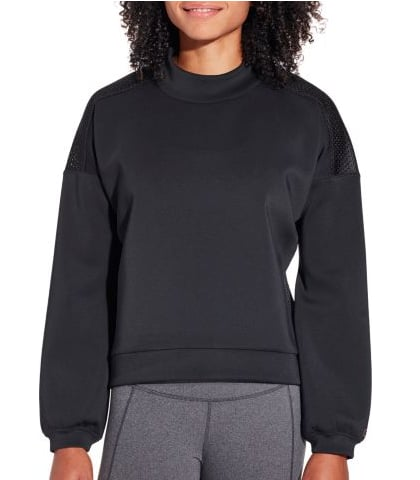 Mesh Back Pullover Sweatshirt