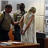 Lindsay Lohan was taken into custody in LA.