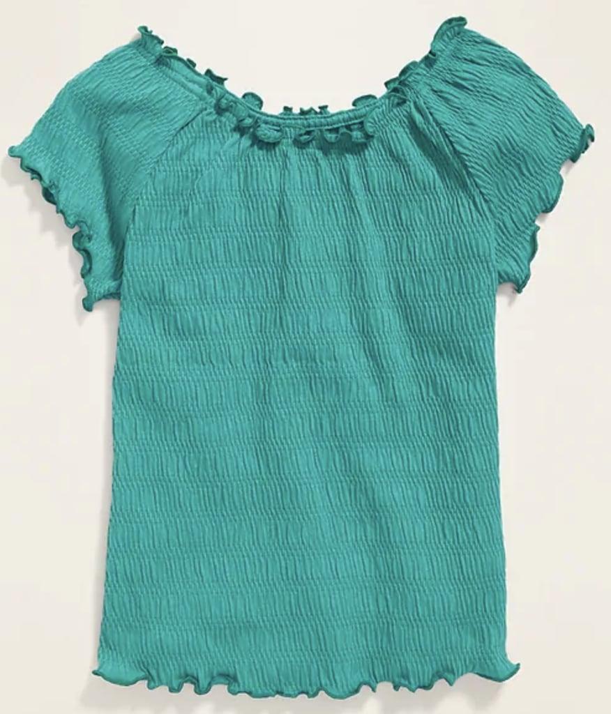 Textured Raglan-Sleeve Top