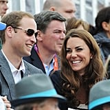 The duo shared a laugh at an equestrian event during the 2012 London Olympics.