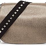Valentino Band Rockstud Round Messenger Bag, Pewter ($2,295)