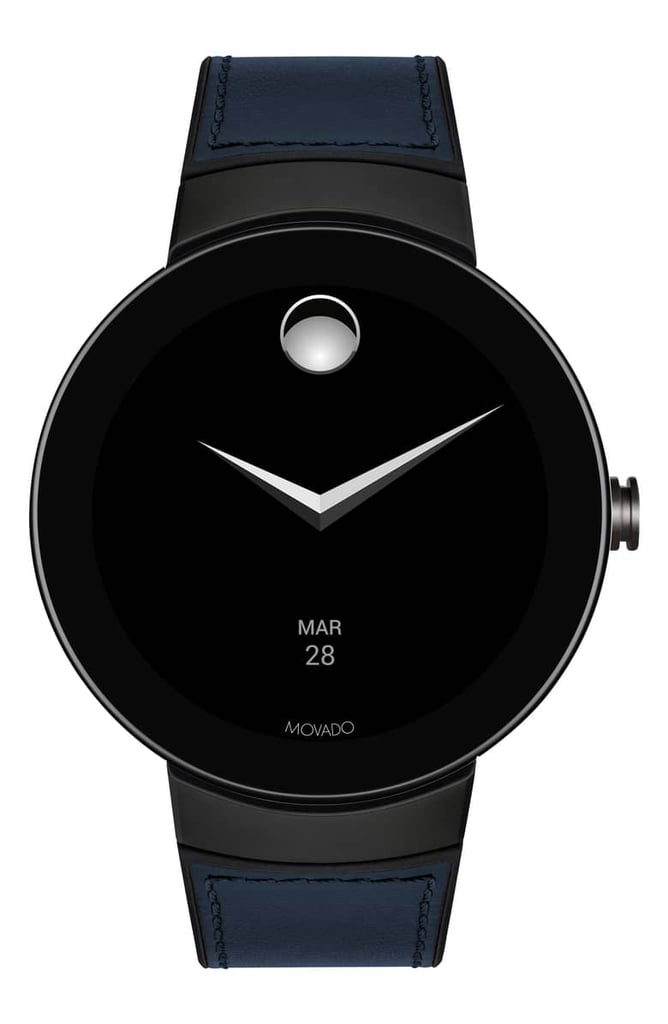 Movado Connect Silicone & Leather Strap Smart Watch