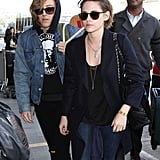 Kristen Stewart and Alicia Cargile breezed through LAX on Wednesday.
