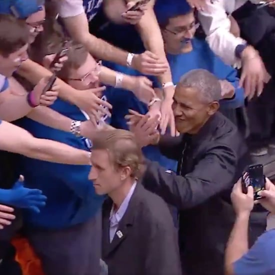 Barack Obama at the UNC Duke Basketball Game Feb. 2019