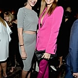 Odette Annable and Stacy Keibler posed for cameras inside Vanity Fair's soiree on Tuesday.