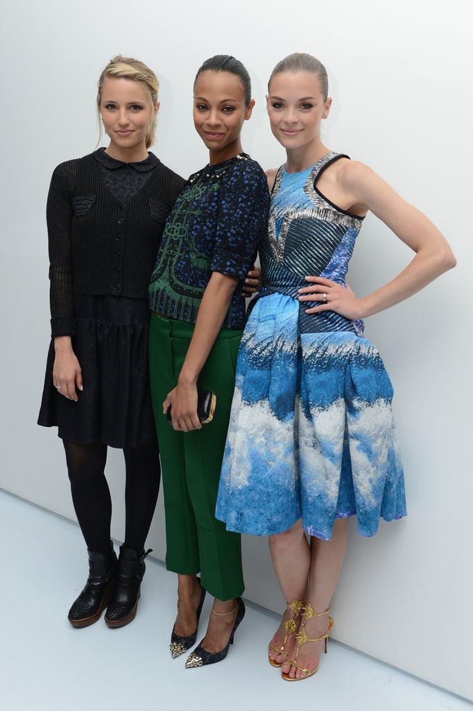 Dianna Agron, Zoe Saldana, and Jaime King lined up at the Persol Magnificent Obsessions event in NYC.