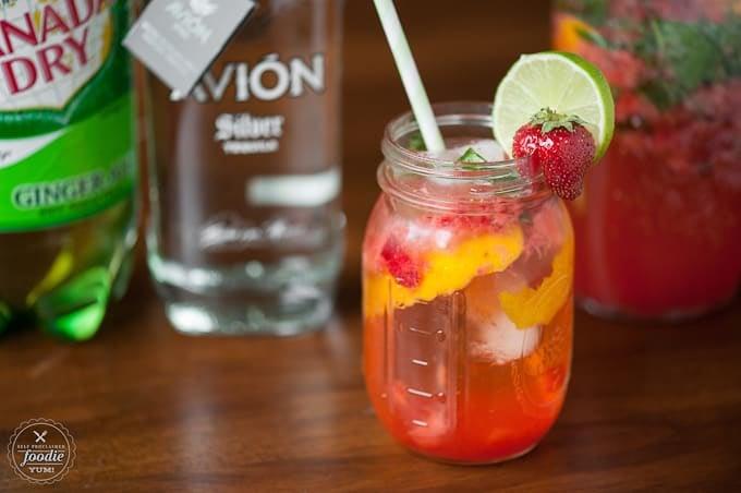 Strawberry Basil Honey Punch