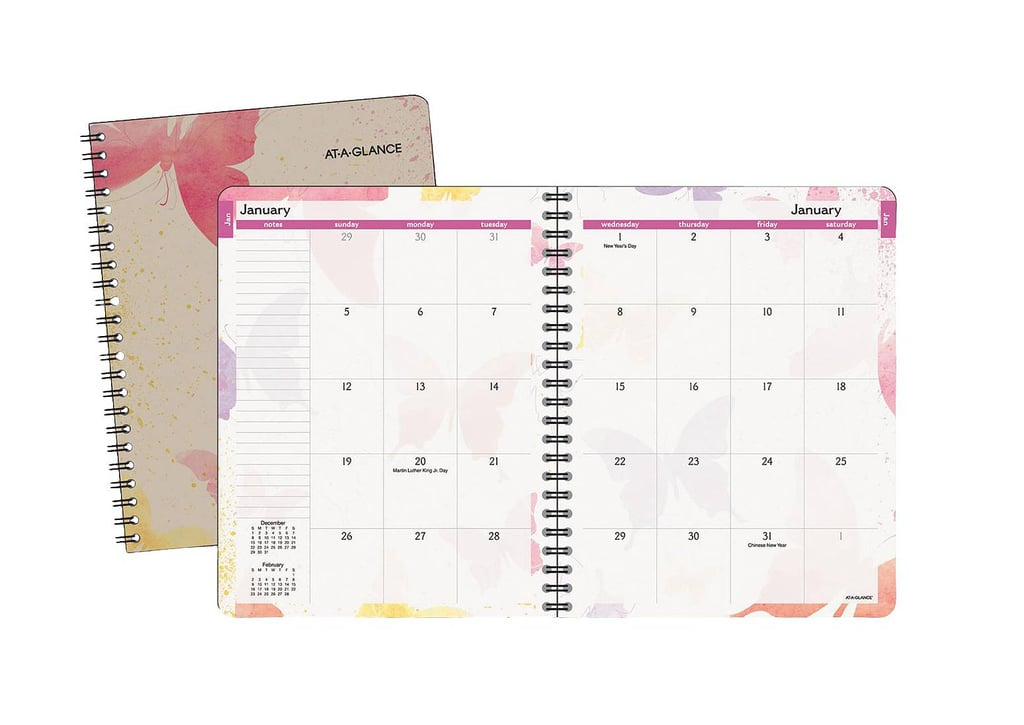 at a glance watercolors monthly planner 19 2017 planners and