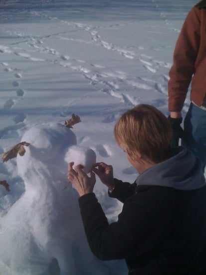Make a Dog Out of Snow