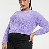 Asos Design Curve Super Fluffy Crop Jumper