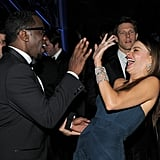 """Sean """"Diddy"""" Combs and Sofia Vergara partied at the InStyle and Warner Bros. 69th Annual Golden Globe Awards afterparty at The Beverly Hilton hotel."""