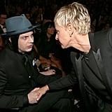 Jack White and Ellen DeGeneres
