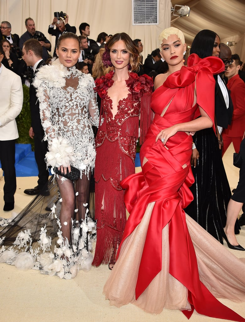 Chrissy Teigen, Georgina Chapman, and Rita Ora borrow each others' style.