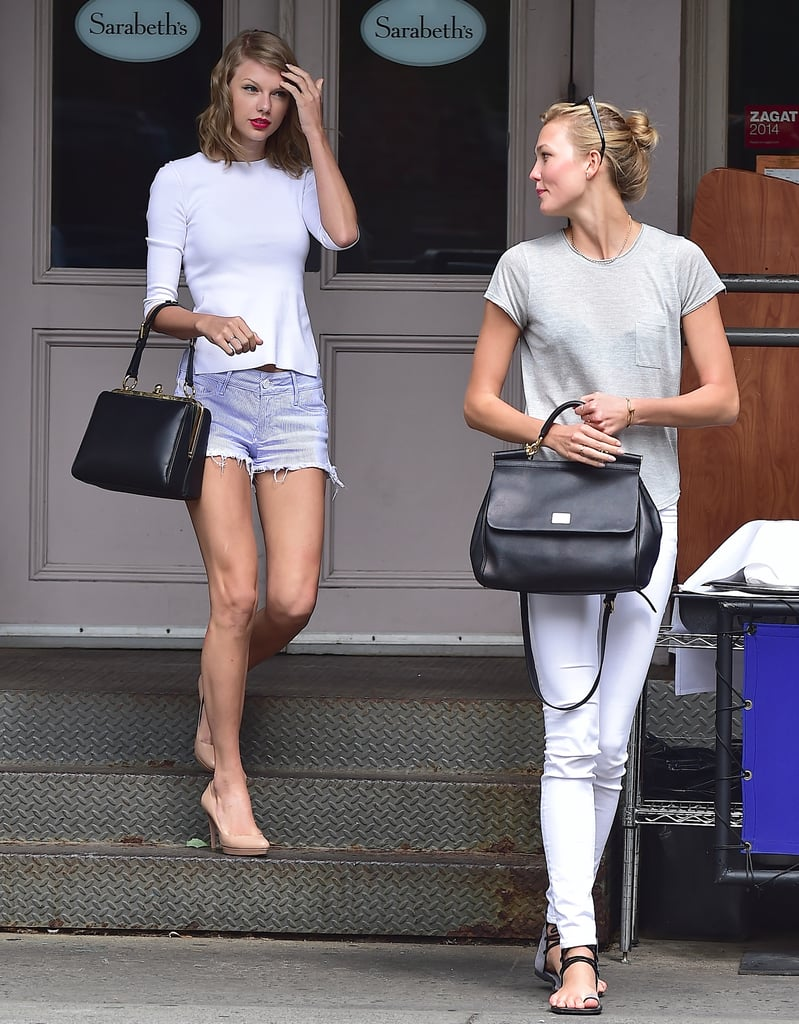 It's not like we haven't seen Sicily, respectively. Not only do each of the bags complement the girls' outfits, but they also jibe with Karlie's and Taylor's distinctive tastes. So decide which way you'd go — classic and sharp like Taylor or laid-back with a boho touch like Karlie — then scroll down to see how you can pull off both looks. Here's to all the fashion friends out there. Source: Getty / Alo Ceballos