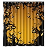 Halloween Pumkin Fabric Shower Curtain