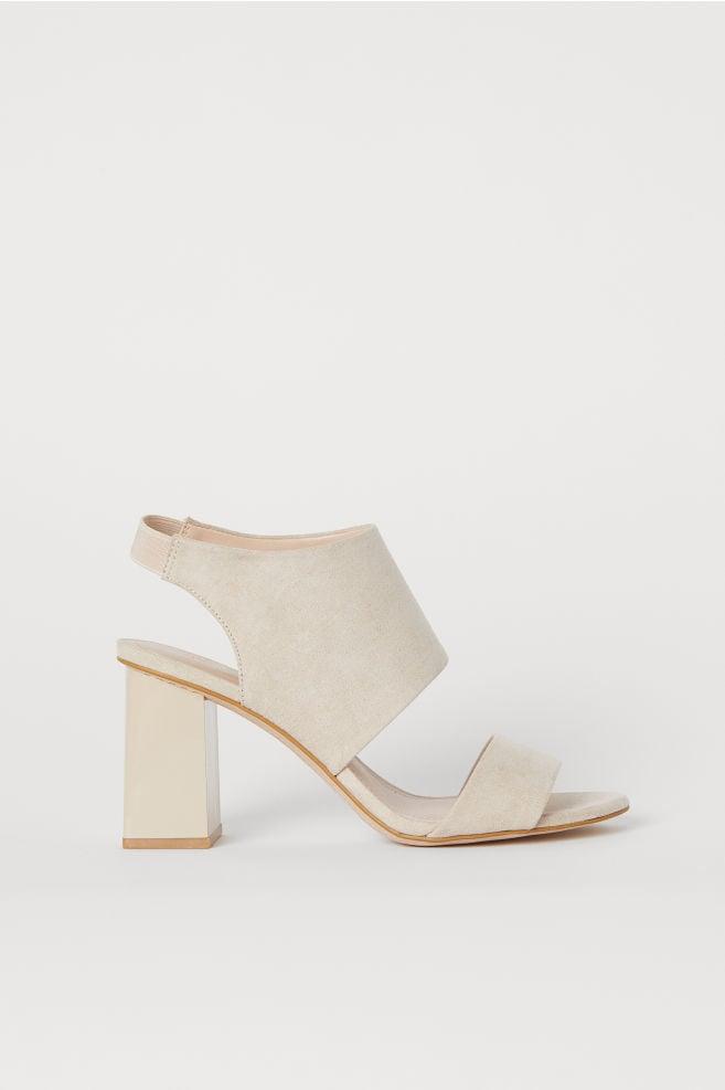 Blocked-heeled Sandals