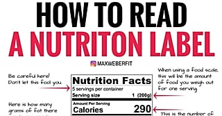 Confused About How to Read a Nutrition Label? This Photo Breaks It Down