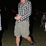 Gerard Butler hung out until the sun went down at Coachella's second weekend.