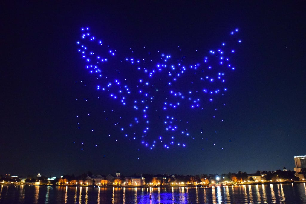 Disney World Drone Show Photos