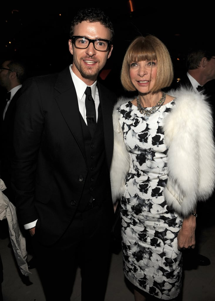 Justin and Anna Wintour attended the June 2009 CFDA Fashion Awards in NYC together.