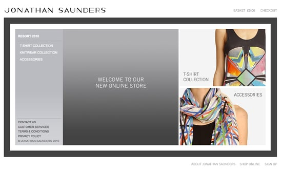 Jonathan Saunders Launches Online Shop for Spring Summer 2010