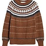 Re/Done '50s Raglan Fair Isle Sweater
