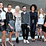 Miranda Kerr, Alicia Vikander, Michelle Williams, Nathalie Emmanuel, Britt Robertson, and Adele Exarchopoulos struck a pose with the man himself, Louis Vuitton designer Nicolas Ghesquière.
