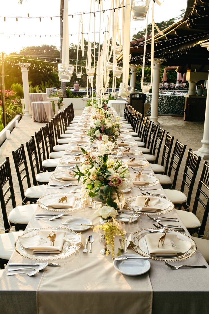 Make Communal Tables Elegant Ideas For Outdoor Wedding