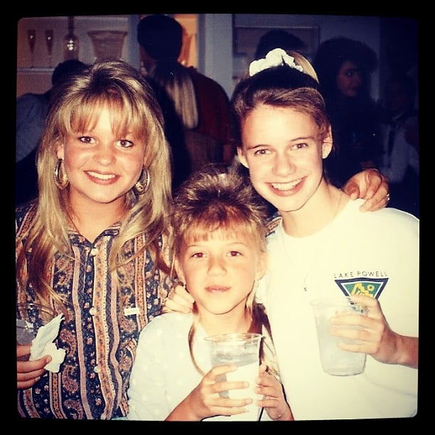 "Andrea: ""Three amigas. I think we were all secretly in the running for ""coolest bangs."" @candacecbure@jodietweetin"""