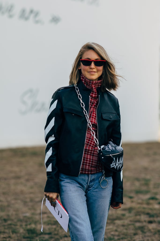 Play Up the Race Car Vibes With a Graphic Bag, Moto Jacket, and Cherry Shades