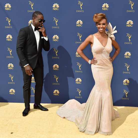 Sterling K. Brown and Ryan Michelle Bathe at the 2018 Emmys