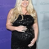 Jessica Simpson Wows in a Bump-Hugging Sequined Dress