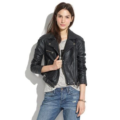 Leather jackets aren't going anywhere, but there's always a new version that can update the classic style. Madewell's Quilted Leather Jacket ($595) is that perfect update, with its tough but sexy zipper accents. — Shannon Vestal, TV and movies editor