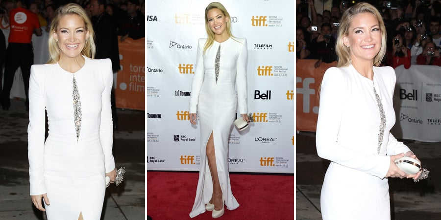 Kate Hudson in White Alexander McQueen At The Reluctant Fundamentalist Premiere in Toronto