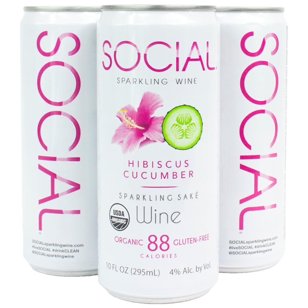 Social Sparkling Wine Hibiscus Cucumber Four-Pack