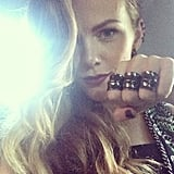 Brooklyn Decker showed off her strong brows and tough Dannijo jewels. Source: Instagram user dannijo